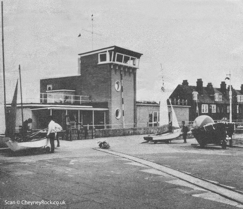 1960/70s view of the sailing club before the new seawall was constructed.