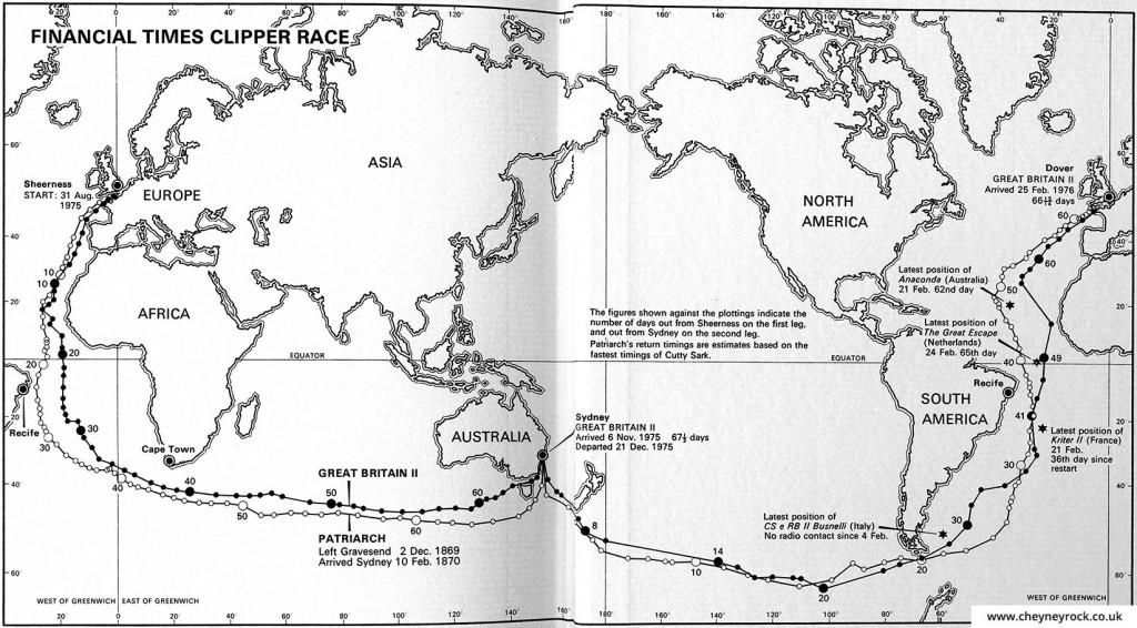 Financial Times Clipper Race Map